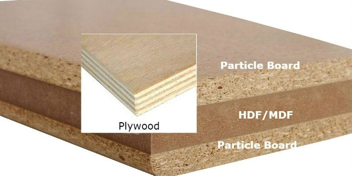 Differentiate between mdf particle board or melamine
